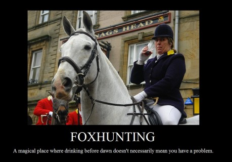 Demotivational Poster Foxhunting