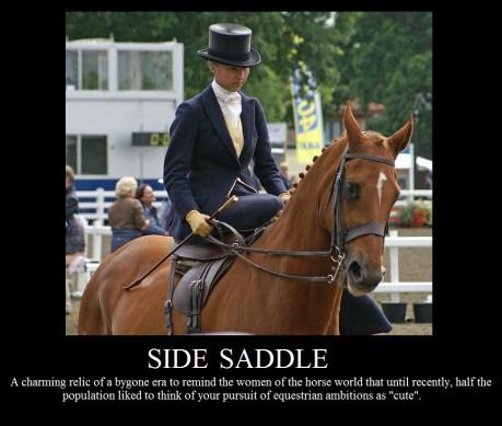 Demotivational Poster Side Saddle