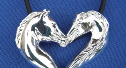 Horse Heart Jewelry for Valentine's Day