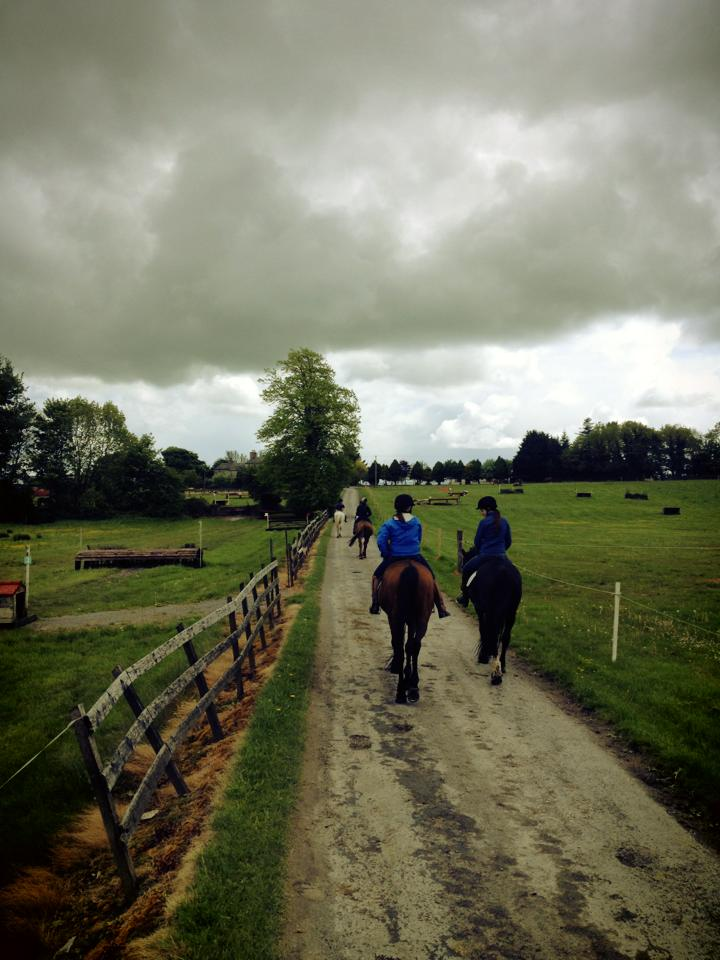 Walking back to the stable after our fourth session at Flowerhill.