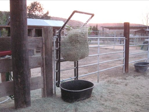 hay horse and feeder shelter pin slow goat