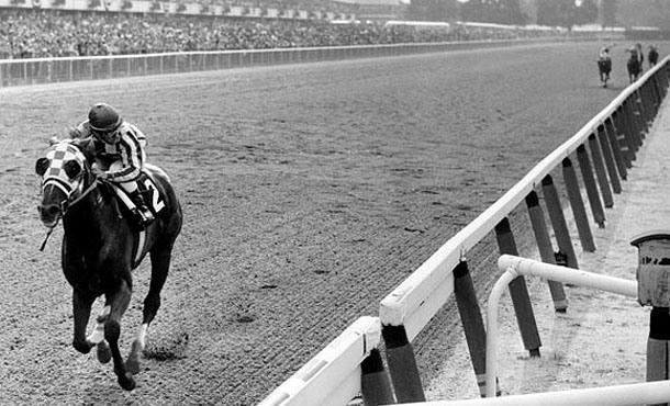 Secretariat Winning the Belmont Stakes. Photo by Bob Coglianese