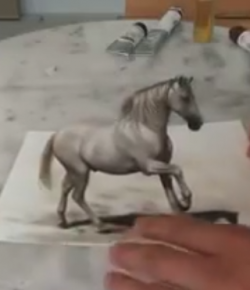 Try Not to Be Mesmerized By This 3D Horse Art