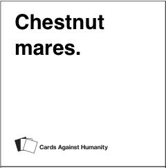 chestnut mares