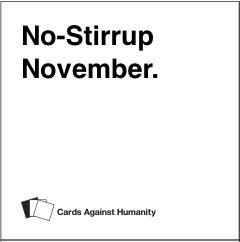no-stirrup november