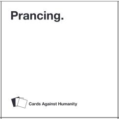 prancing