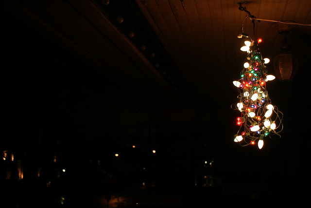"""""""I hung the effing lights"""" by Peas, cc/flickr"""