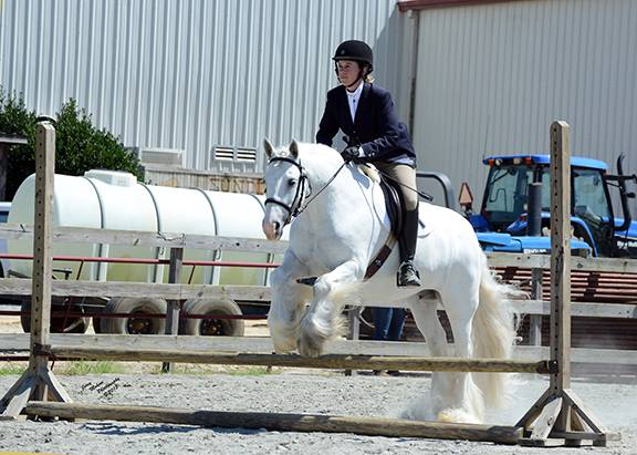 Kristine and Luska. Photo courtesy of Dungarvan Feather.