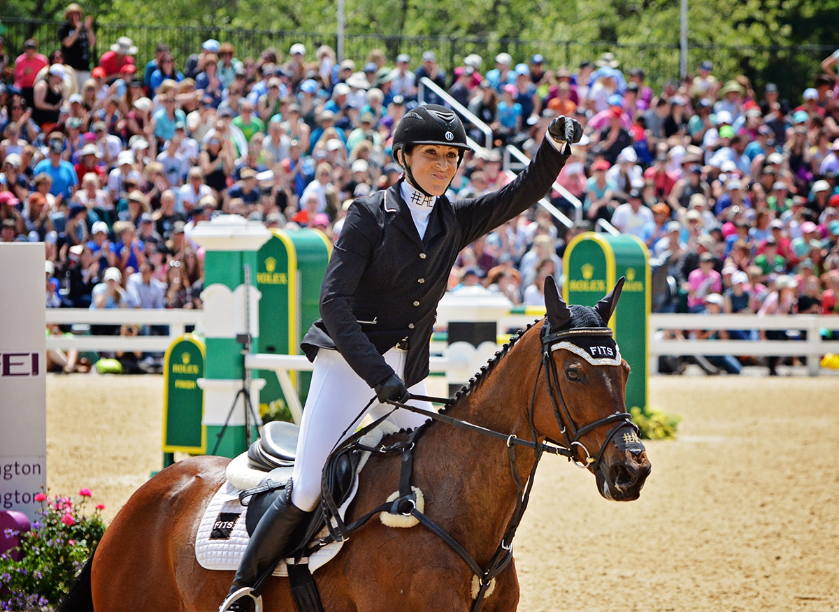 Laine and OTTB Anthony Patch were one of only four pairs to jump double-clear at the 2016 Rolex. Photo by Jenni Autry.