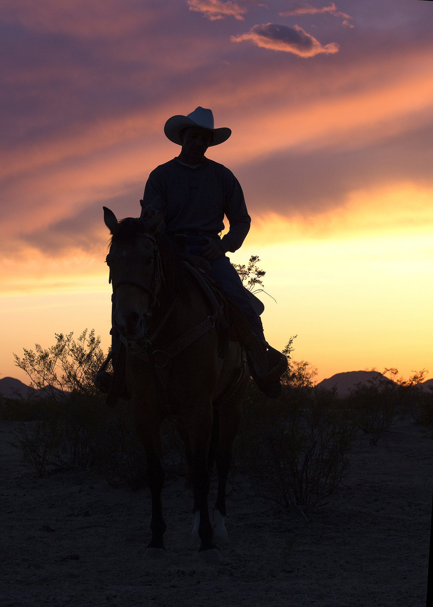 """""""Riding off into the sunset"""" isn't a romantic cowboy thing ... it's a necessity these days. Flickr/Tom Stokes/CC"""