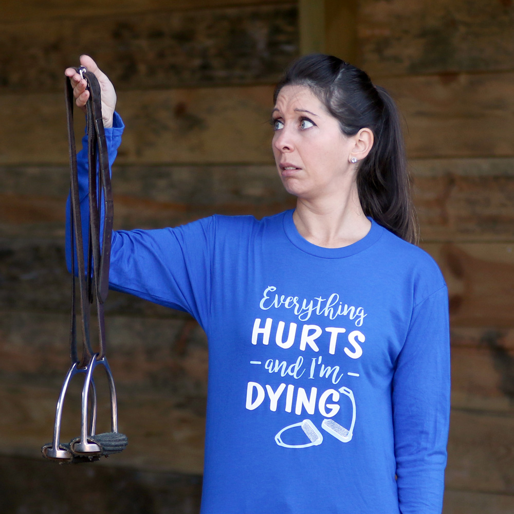 This Ride Heels Down shirt has never been more appropriate... happy No Stirrups November! Photo by Erik Jacobs/P.TEN Marketing