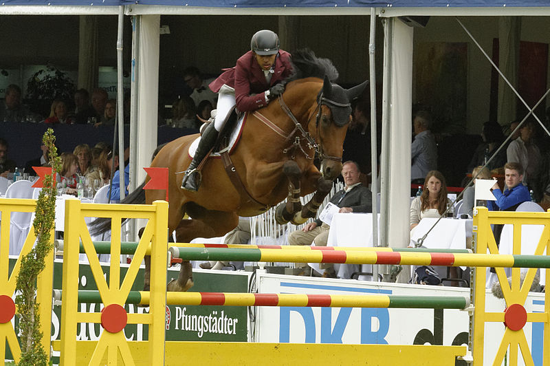 Bassem Hassan Mohammed (QAT) riding Cantinero (by Cento). Michael Kramer/Creative Commons.