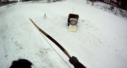 World Equestrian Brands HelmCam: Snowy Archery
