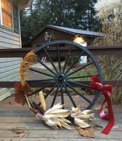 Holiday DIY: Wagon Wheel Wreath