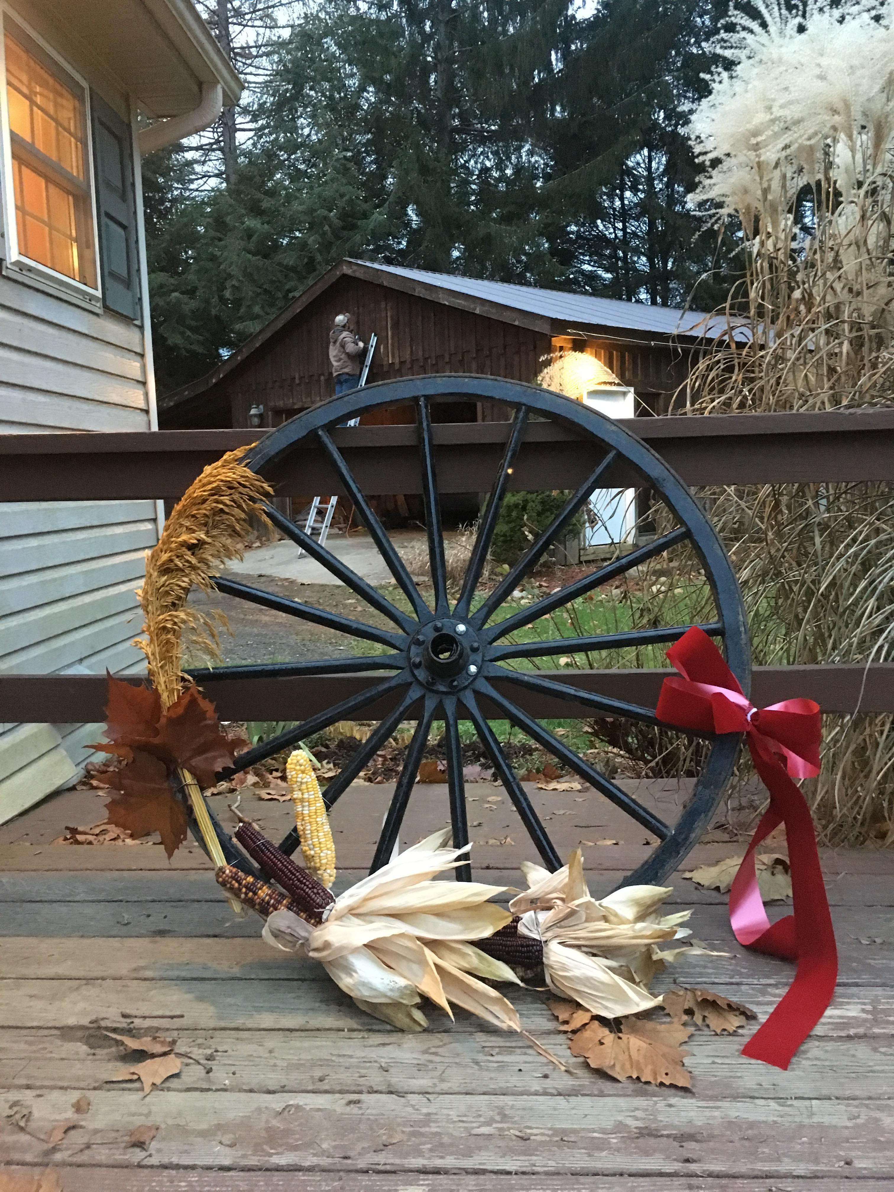 Holiday Diy Wagon Wheel Wreath Horse Nation