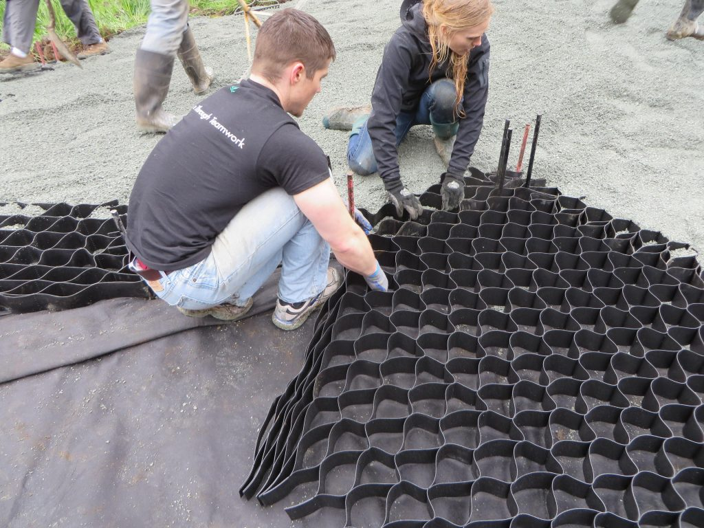 installing lighthoof panels for horse mud management