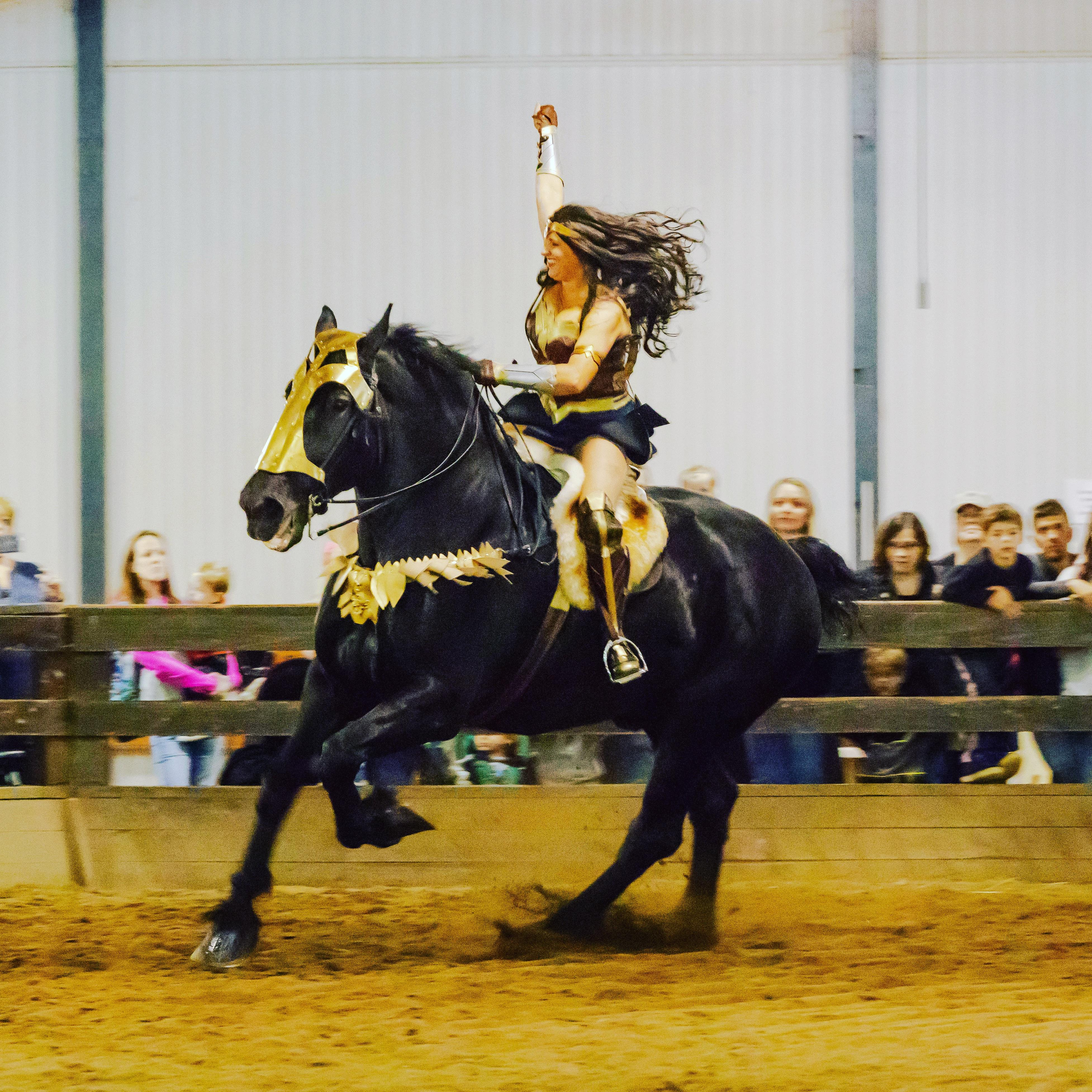 Kellie Rettinger Rides High As Wonder Woman Horse Nation