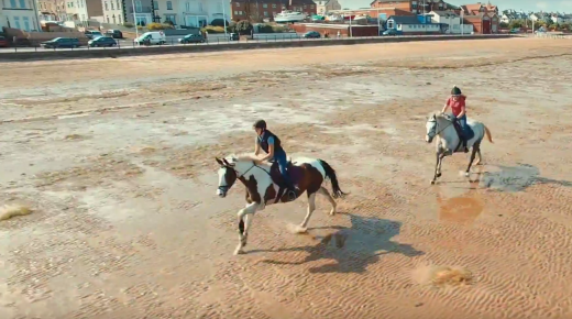 World Equestrian Brands Drone Cam: Gallop on Hoylake Beach