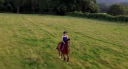 World Equestrian Brands Drone Cam: Riding at Dusk
