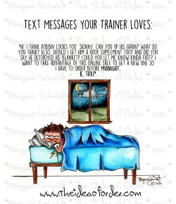 The Idea of Order: Texts Your Trainer Loves…