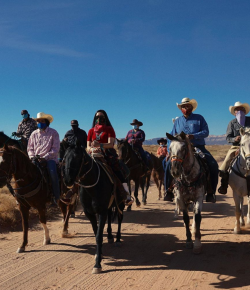 Voters Take To the Polls on Horseback