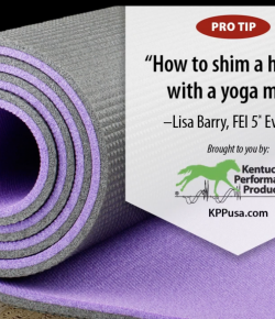 Kentucky Performance Products: Shimming a Half Pad With a Yoga Mat
