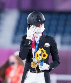 Today in Tokyo: Tears & Cheers as Von Bredow-Werndl Takes Individual Dressage Gold