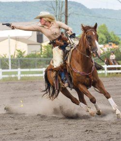 Triple Trouble: Mounted Shooting = Life
